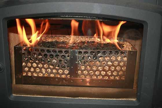 Chile desarrollo sustentable pellet basket novedad - Como adaptar una estufa de lena a pellets ...